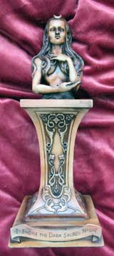 Statue - Crescent Crowned Goddess- Wood Finish