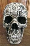 Figurine - Skull - Rose