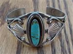 Vintage Southwestern Turquoise and Sterling Silver Cuff bracelet