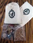 Bag of Offerings - Fava Beans, Coins and Spelt Grain